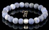 Sodalit 925er sterling Silber Armband Bracelet Perlenarmband blau 8mm