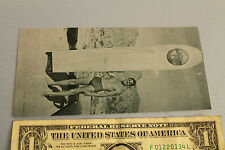 Vintage Surfing 3x6in. Glossy Photo Reprint - Hawaii Wood Plank Surfboard Surfer