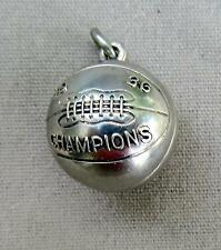 "Vtg 1936 Sterling Silver Basketball  Champions Charm       About 3/4"" Round"