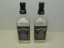 Lot of 2 Jack Daniels Old No. 7 Whiskey 750 ml Empty Bottles Crafts with caps