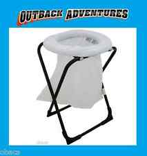 OZTRAIL PORTABLE FOLDING TOILET CHAIR WITH WASTE BAGS CAMP SEAT
