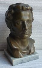 Rare Soviet Poet Writer A. PUSHKIN Russian metal bust statue sc.Dubrovich