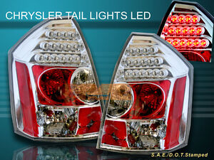 2005 2006 2007 CHRYSLER 300 300C CLEAR LED TAIL LIGHTS