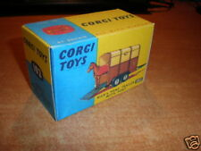 corgi #102 Rice's pony trailer with pony     BOX ONLY