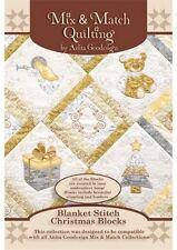 Anita Goodesign Blanket Stitch Christmas Blocks Embroidery machine Design CD