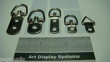 500 D Ring Picture Frame Hanger Assortment Triangle Hanger + 700 Screws + Sample