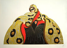 "ERTE Signed 1987 Original Color Serigraph - ""Masquerade II"""