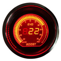 "Blue Red 2"" 52mm Turbo Boost Vacuum Car Digital LED Light Gauge Meter Psi Inhg"