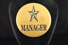 """Manager"" Lot of 3 Buttons pins pinbacks 2 1/4"" badges awards Large New! boss"