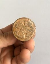 Ancient Old Copper Hand Engraved Historic Stamp Seal
