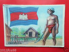 figurines cromos cards figurine sidam gli stati del mondo 19 cambogia bandiere f
