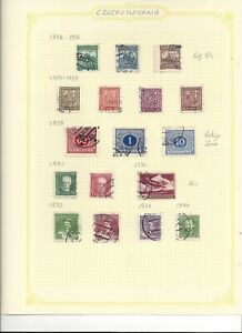 Czechoslovakia, collection of 12 sheets 1920-1970, includes covers