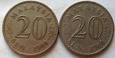 Parliament Series 20 sen coin 1968 2 pcs