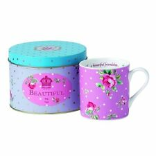 "Royal Albert New Country Roses ""A BEAUTIFUL FRIENDSHIP MUG"" New in Gift Tin"