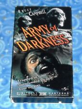 Army of Darkness Anchor Bay VHS Video Tape with Slip Cover Excellent Tested