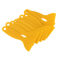 10x Yellow Car Widow Tint Scraper Squeegee Tools Tinting Film Cleaning Tool