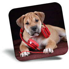 Awesome Fridge Magnet - Cute Headphone Puppy Dog Cool Gift #3342