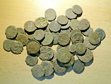 "5 Uncleaned and Unresearched Roman AE3/4 Bronze Coins. mostly ""as dug"""