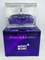 Femme De Montblanc Mont Blanc Eau De Toilette 1.0oz 30ML NIB For Women