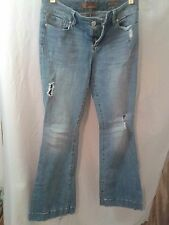 7 seven jeans stretch light blue wash denim 29 sexy flare well worn good shape