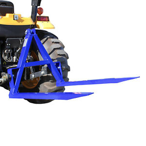 TRACTOR REAR PALLET FORKS 1000KG CAPACITY, 3 POINT LINKAGE