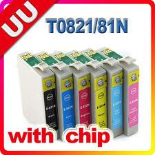 6x ink cartridge 81N 82N for Epson Stylus Photo TX-810FW 1410 TX-800FW NON-OEM