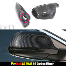 For Audi A4 B8 A5 S5 A6 Q3 A8 S8 Carbon Fiber Mirror W/ Side Assist Replacement