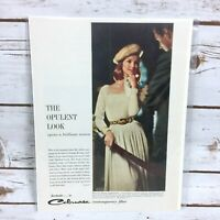 Vintage 1960's Celanese Acetate Fabric Original Fashion Print Ad