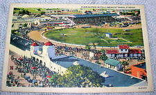 Vintage Florida Fair in Full Swing at Tampa, Florida Linen Postcard