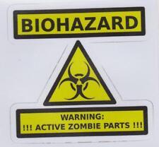 Biohazard Warning Active Zombie Parts sticker