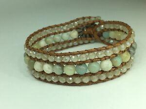 Fashion Women jewelry AmazoniteStone crystal Armband wrap Bracelets jewelry gift
