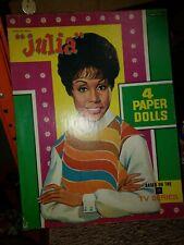 Vintage Saalfield JULIA BOXED Paper Dolls 1970 Diahann Carroll NOS