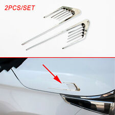 2X Chrome Accessories Car Body Side Door Fender Flow Decal Sticker Moulding Trim