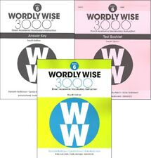 4TH EDITION  Wordly Wise 3000 Grade 6 SET Workbook Answer Key & Tests