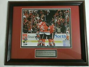 "Chicago Blackhawks 2010 Stanly Cup Win 13""x16""x1"" photo framed"