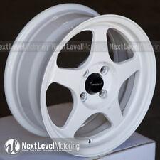 Circuit CP22 15×6.5 4-100 +35 Gloss White Wheels Fits Honda Civic EG EK Spoon