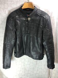 Icon Daytona leather jacket Mens size large With Liner Black Nice! (C2)
