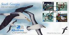 South Georgia & Sandwich Isl 2017 FDC Albatross Consv RSPB 4v Cover Birds Stamps