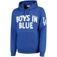 Los Angeles Dodgers Men's Mitchell & Ness Royal Extra Out Pullover Hoodie