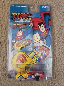 2000 Warner Bros. Studio Store Diecast Superman Racecar with Collector Card RARE