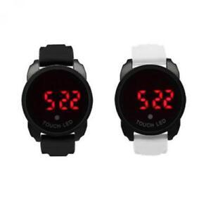 Unisex Uhr SNEAKERS Digital XL Berührungsempfindlicher LED Weckfunktion Silikon