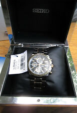 Seiko 7T62-0FY0 Men's Quartz Chronograph Alarm Watch; Runs well Original Box