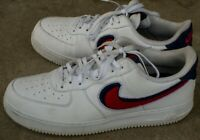 Nike Air Force 1 07 LV8 Sz 13 White Red Blue Leather