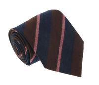 Missoni U5121 Burgundy/Pink Repp 100% Silk Tie