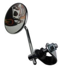 Chrom Motorradspiegel Spiegel mit Klemme für Cafe Racer Chopper Spiegelhalterung