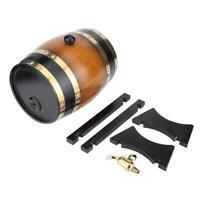 3L Large Capacity Retro Color Oak Wood Red Wine Barrel Bucket Keg Storage C Home