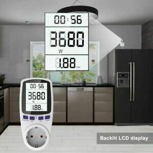 EU Leistungsmesser Wattmeter Stromzähler Energiemonitor Stromverbrauch Steckdose