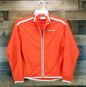 Cannondale Womens Small Orange Cycling Jacket Lightweight Bicycling Riding