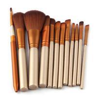 12pcs Professionelle Make up Pinsel Kabuki Pinsel Set Powder Foundation Blusher