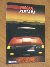1986 Nissan Pintara original Australian 16 page brochure